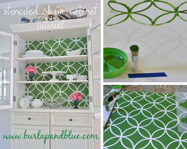 Easy DIY furniture stencil project