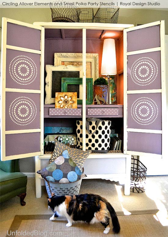 Stenciled Cabinet Reveal