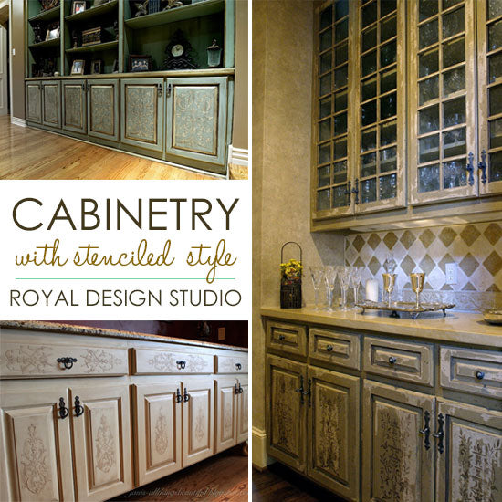 Royal Kitchen Design: Stencil Project Ideas For Stenciling Kitchen Cabinets And