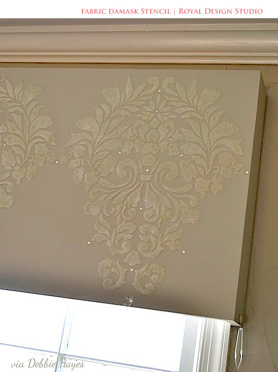 Stencil Ideas For Stenciled Window Treatments Create