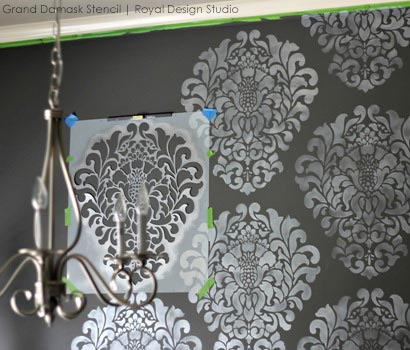 DIY Stencil Ideas for Updated Dining Room Wall