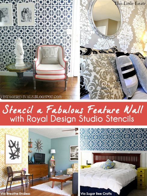 Stencil Inspiration for Accent and Feature Walls | Royal Design Studio - Red Feature Color Wall