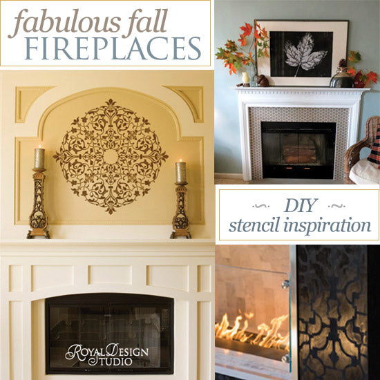 Stenciling Ideas for a Fabulous Fireplace Surround