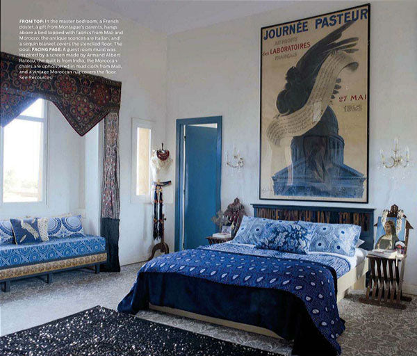 Moroccan Stenciled Bedroom Featured in Elle Decor
