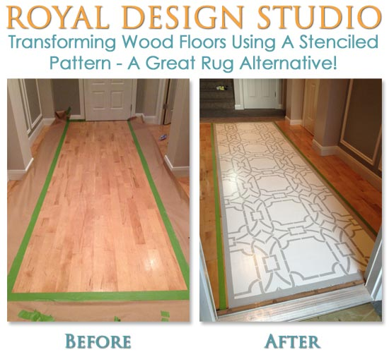 How to transform wood floors using a stenciled pattern and decorative painting