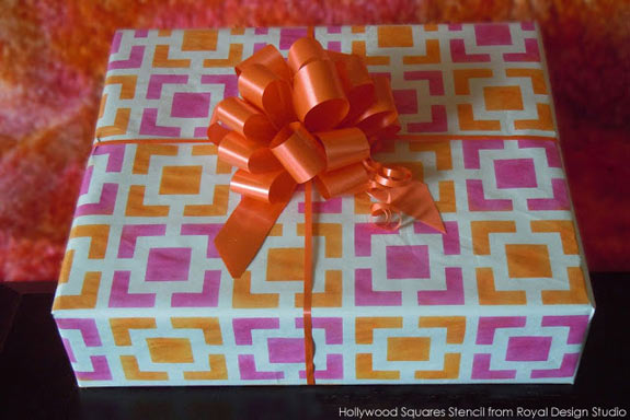 How to stencil custom gift wrapping paper