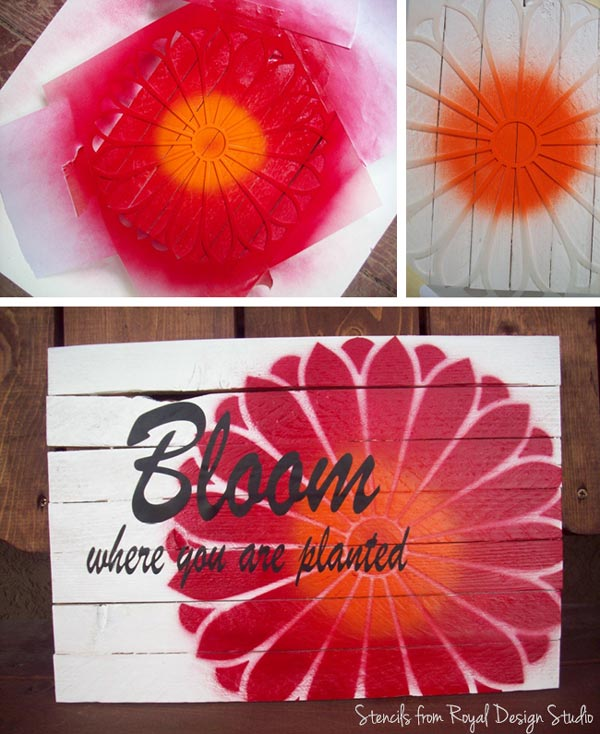 Cute stenciled sign for Mother's Day gift