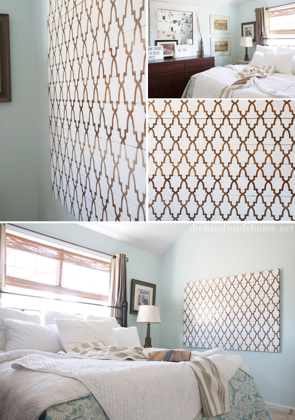 Stencil patterns in wall art