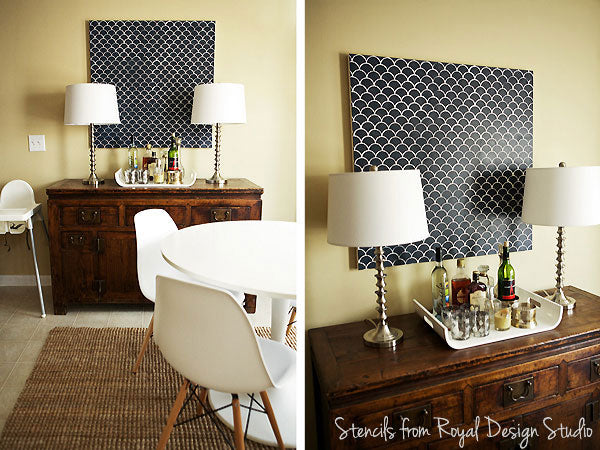 stenciled wall art