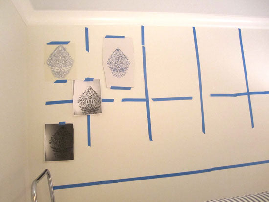 Stencil Proofs help determine pattern placement on a wall | Royal Design Studio