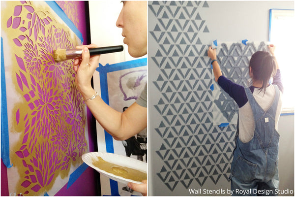 Decorating Kid's Rooms with a Spoonful of Imagination - 2 Ideas on using Wall Stencils to Decorate a Boy's or Girl's Room