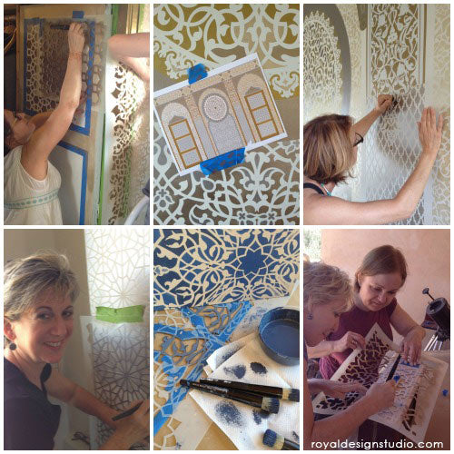 New Moroccan stencils for amazing walls, floors, furniture from Royal Design Studio