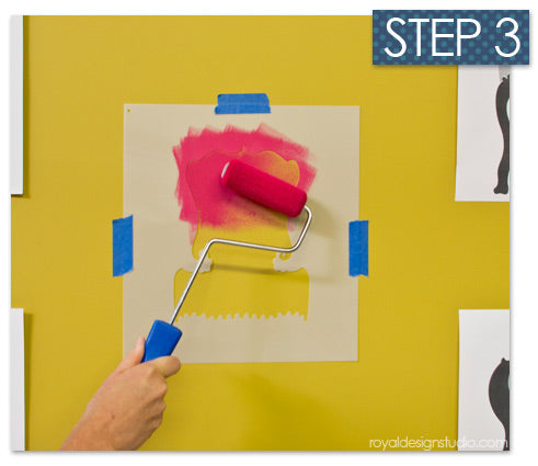 Best supplies for stencils include flocked stencil paint roller