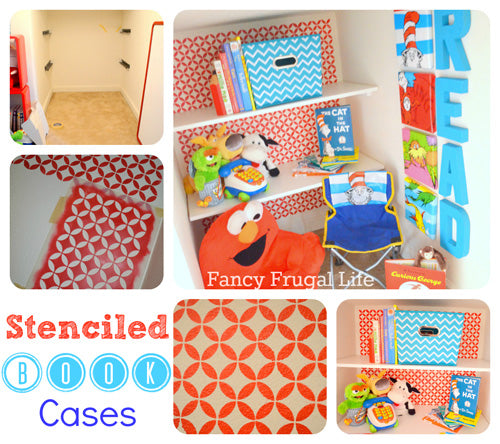 cute stenciling for kid's rooms
