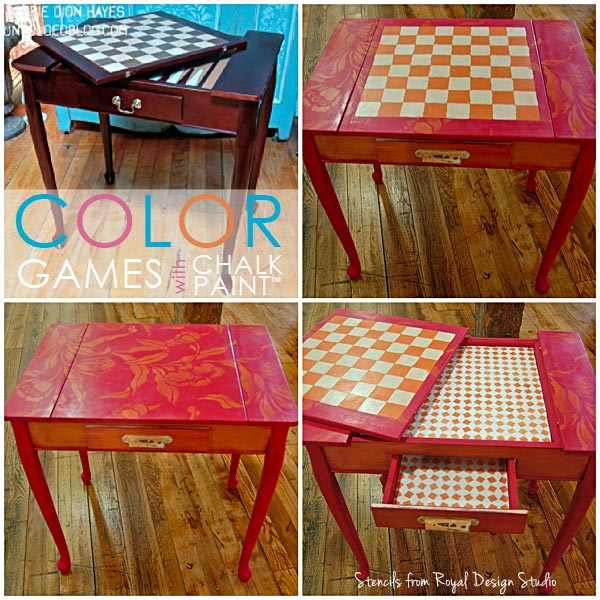 Stencil a table with Chalk Paint