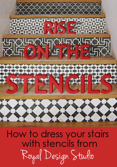 how to stencil on stair risers