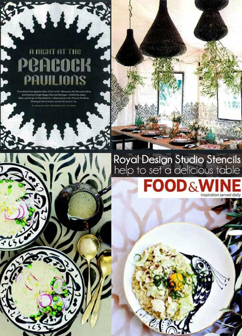 Food & Wine: Peacock Pavilion's Moroccan-inspired stencils