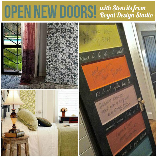 Create stunning stenciled doors with Royal Design Studio