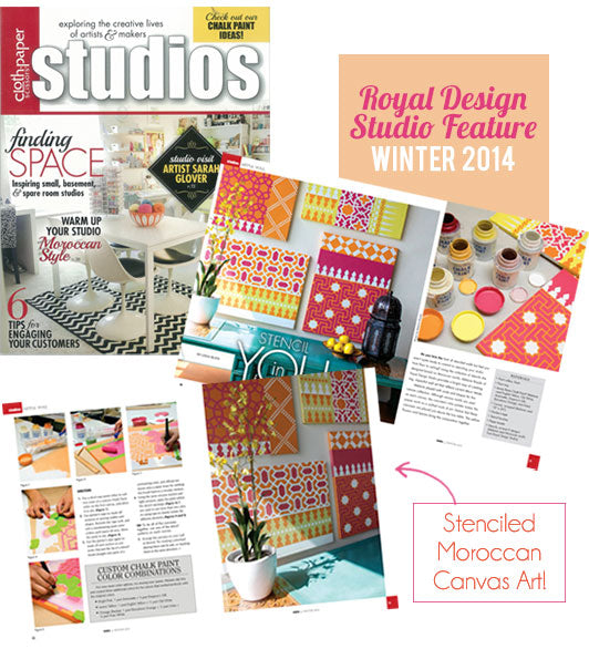 Studio Magazine Features Several Moroccan Stencils!