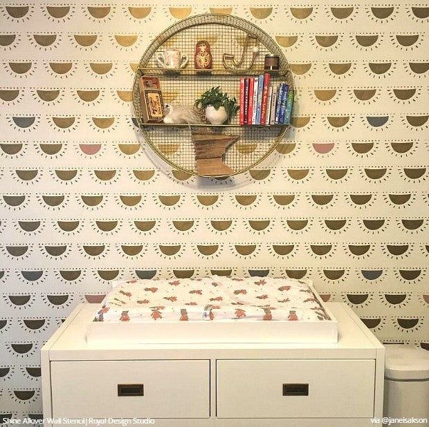 Decorate with Stencils for an Insta-Inspiring Home - 25 DIY Ideas using Wall Stencils - Home Decor Trends - Royal Design Studio