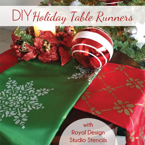 Easy Gift Idea: Custom Stencil Holiday Table Runners | Royal Design Studio