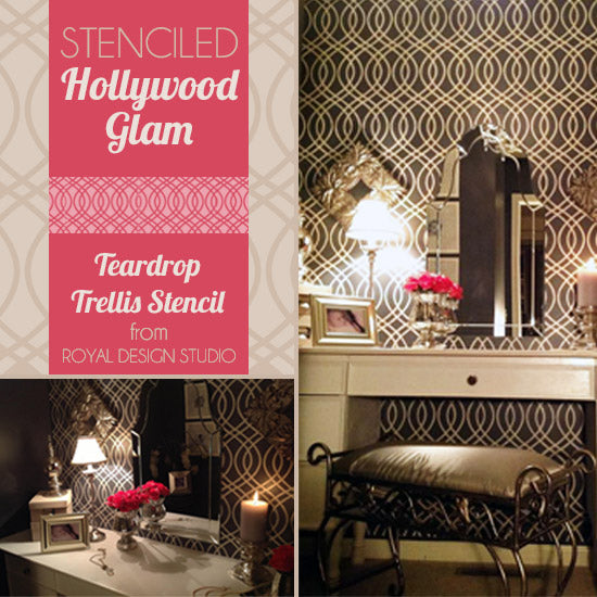 Snazzy Little Things Stencils Hollywood Glam!