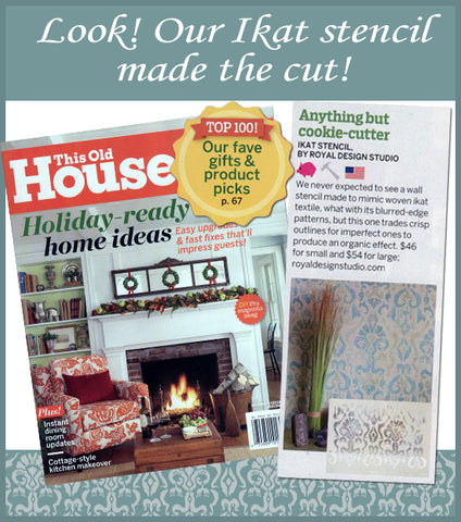 This Old House Lists our Stencils in Top 100 Best New Home Products!