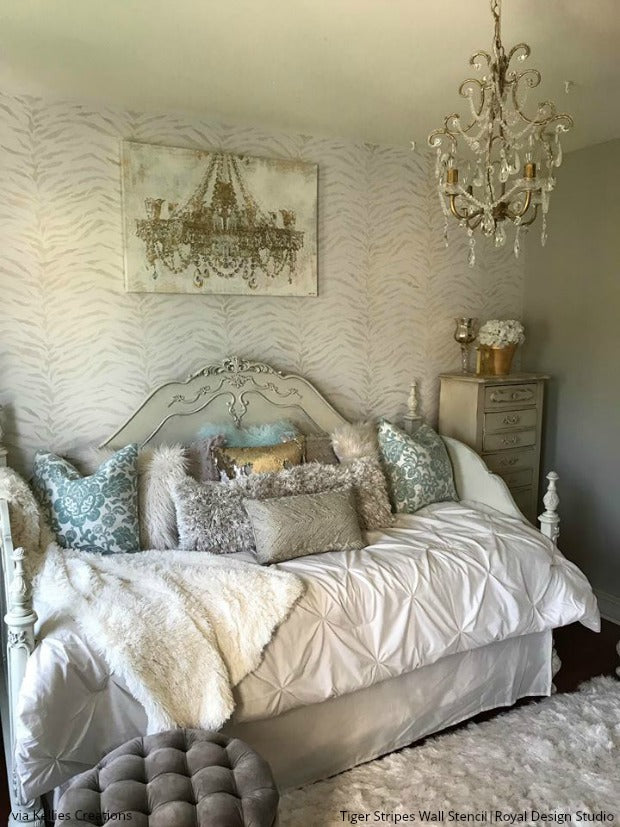 18 Unbelievable Bedroom Wall Stencils That Will Leave You Dreaming   DIY  Feature Wall Decor Ideas