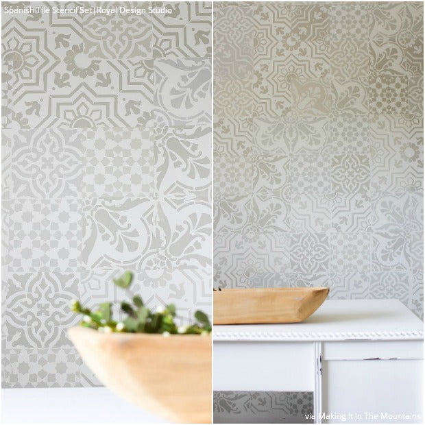 Stencil Design Challenge: 12 Bloggers Tackle Custom Decor, and Win! DIY Decor Ideas using Royal Design Studio Furniture & Wall Stencils