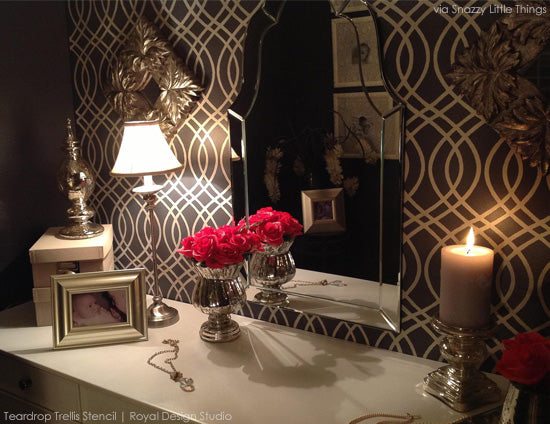 Stencil and Pattern Ideas to Create a Stylish and Glamorous Closets and Dressing Rooms
