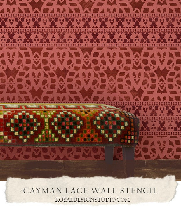 DIY Decorating with 10 Wall Stencil Ideas for the Global Gypsy - Bohemian Style Interior Decor - Boho Chic Room Makeovers - Royal Design Studio