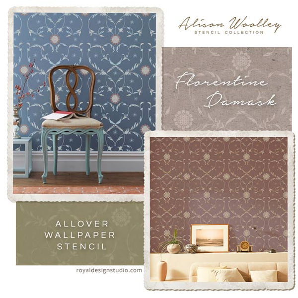 New Designer Stencils for Royal Design Studio: Italian Stencils by Alison Woolley - Decorate Your Home with Italian Design and Classic Wall Stencils