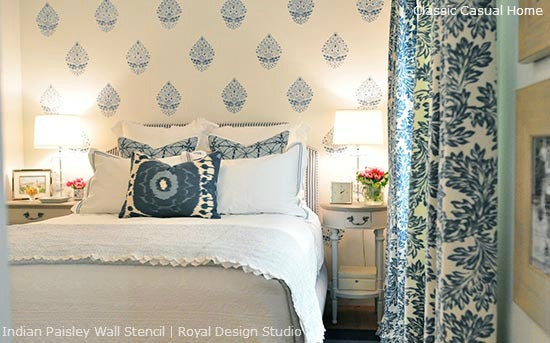 Tips and Tricks for Stenciling a Feature Wall | Royal Design Studio