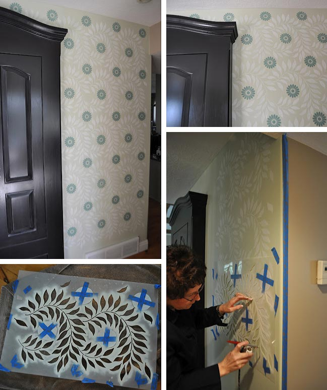 airbrush wall stenciling steps