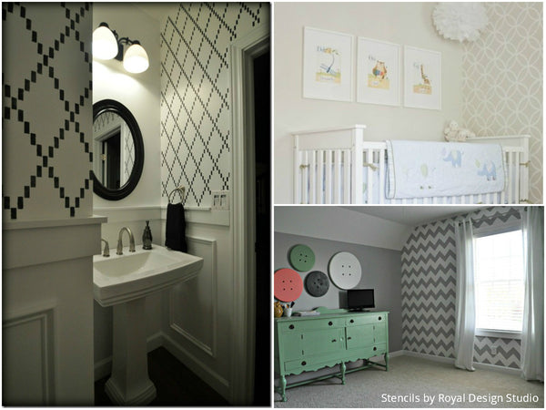 Apartment Therapy Features Royal Design Studio Stencils! 15 BEAUTIFUL DIY Home & Room Makeovers Using Wall Stencils