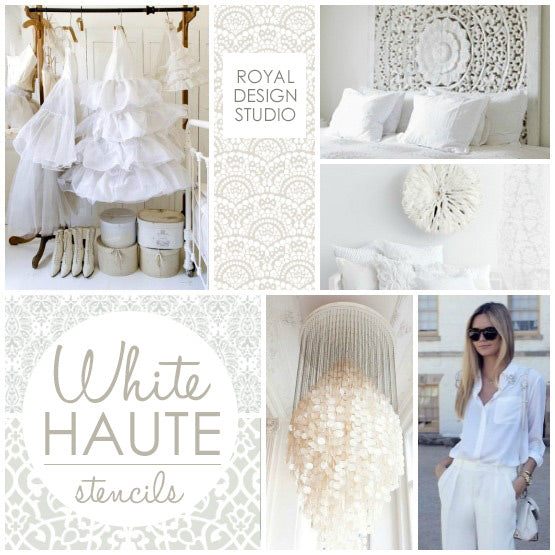 Using Stencils For White Haute Pattern Trends To Warm Up