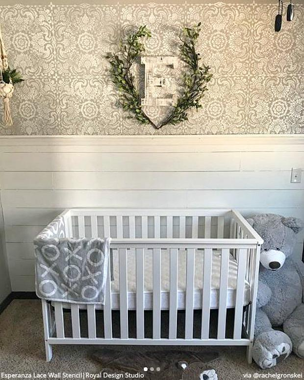 The Cutest Baby Nurseries U0026 Kids Rooms Ever! Home Decorating DIY Ideas  Using Wall Stencils