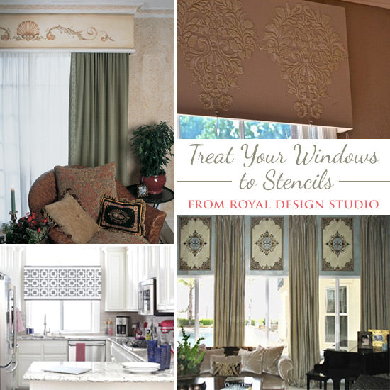 Stenciled Window Treatment Ideas | Royal Design Studio