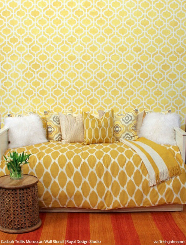 Interior Design & Wall Stencil Painting Tips from Trish Johnston ...