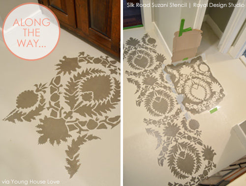 Young House Love Shares Stenciled Floor Style | Royal Design Studio