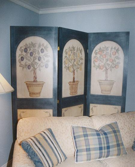 Peach, Pear & Plum Topiary Tree Stencil Set