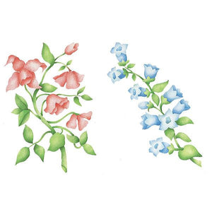 English Flowers Series B Stencil
