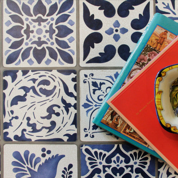 Vintage Tile Table Stencil Kit