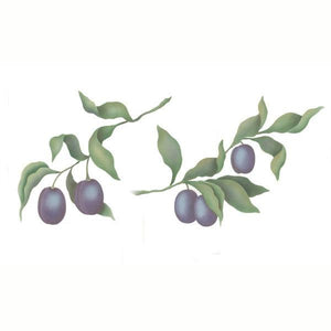 Plum Fruit Stencil Set