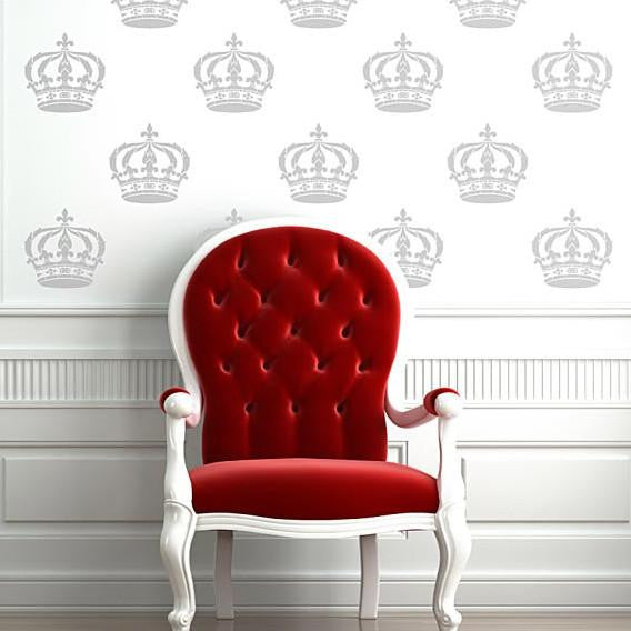 King Crown Wall Art & Furniture Stencil