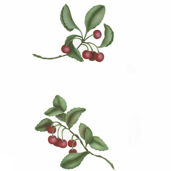Cherry Fruit Stencil Set