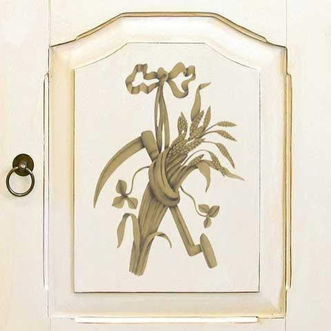 Staff of Life Trophy Furniture Stencil
