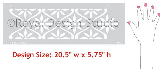 Daisy Chain Wall Stencil Border