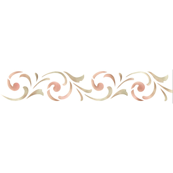 Border Stencils | Simple Scroll Border Stencil | Royal ...