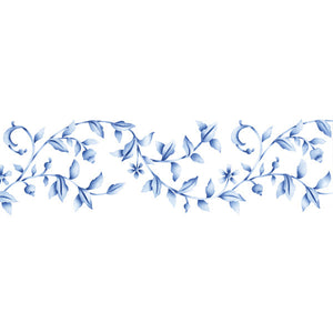 Floral Embroidery Border Stencil for DIY Wall Art - Royal Design Studio
